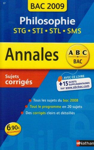 ANNAL 09 ABC SUJ COR PHILO STG