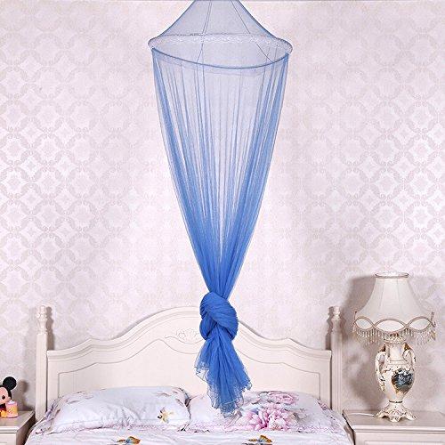 Preisvergleich Produktbild Habe Romantische Verschlüsselung oben hängende Netze, Polyester, Moskitonetze, Royal Princess Bed Vorhang , blau , 60*230*950