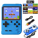 Etpark Handheld Game Console, Retro Mini Game Machine with 400 Classical FC Games 2.8-Inch Color Screen Support for TV Two players 800mAh Rechargeable Battery Present for Kids Boys Girls and Adult
