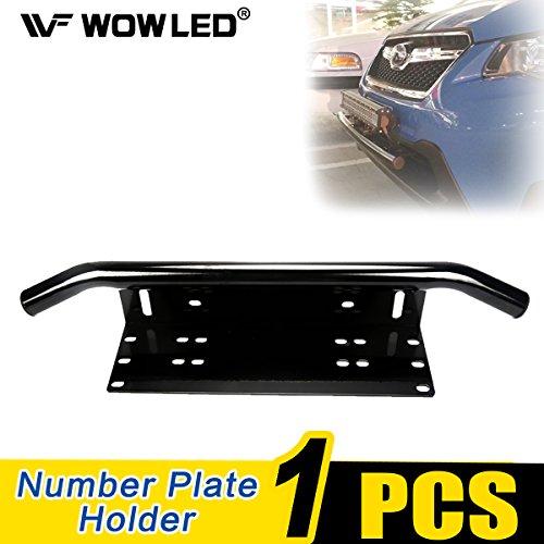 Wowled, staffa di montaggio porta-targa universale, con paraurti anteriore, per lampade a LED a barra e fari da lavoro