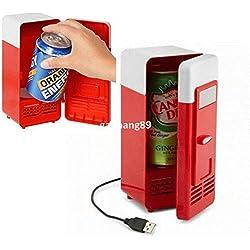 SL&BX Vintage usb mini nevera refrigerador bebidas bebida sola puerta mini heladera con freezer-A