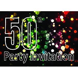 50th Theme Birthday Party Einladungen Einladungen Kinder Erwachsene Männer/Frauen