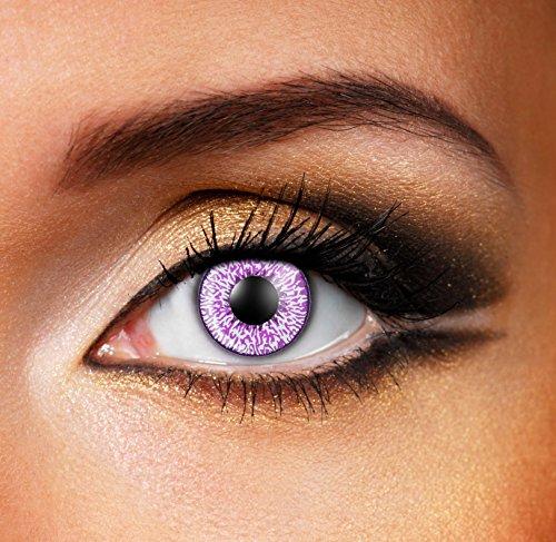 Eyefusion® Farbige Mystic Violet Kontaklinsen Crazy Ohne Starke Fur Halloween Und Karneval