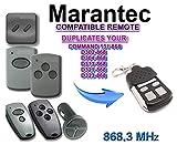 Kompatibel Marantec D382/D384/D302/D304/D313/D321/323/COMMAND 131 Handsender Ersatz - 4 Kanal Garagentor Fernbedienung Sender, 868.3 Mhz