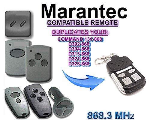 Funksender Fernbedienung Garagentor/öffner 122459 2 Marantec Digital 384 Mini Handsender 868.3 MHz Nachfolger Digital 304 *