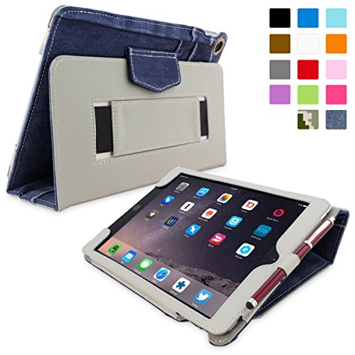 iPad Air 2 Hülle (Blau), Snugg - Smart Case mit lebenslanger Garantie + Sleep / Wake Funktion (Apple Jeans)