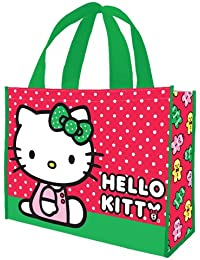 Vandor 18773 Hello Kitty Holiday Large Recycled Shopper Tote, Multicolor