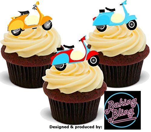 12-x-vespa-scooter-mix-mods-cute-fun-novelty-birthday-premium-stand-up-edible-wafer-card-cake-topper