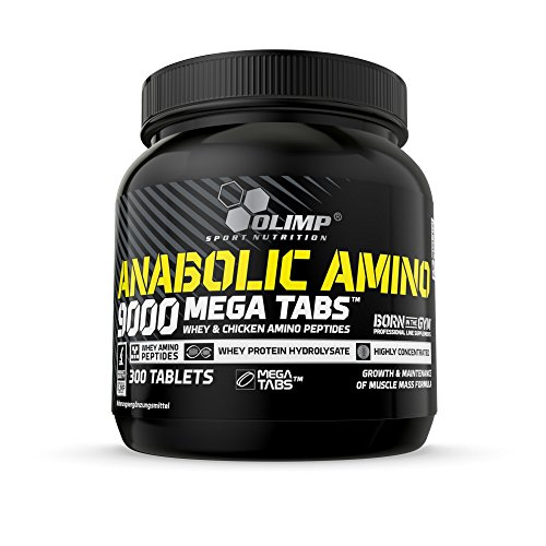 Olimp Anabolic Amino 9000 Mega Tabs | 9000 mg Aminosäuren | 300 Tabletten, 1er Pack (1 x 675 g Dose) -