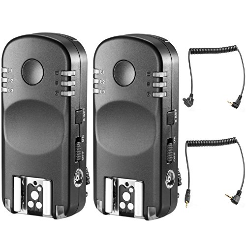 Neewer 2.4G Funk Fernbedienung Blitz Auslöser Transceiver Paar mit Fernauslöser für Canon DSLR Kameras 1D Mark II III IV 5D Mark II III IV 1100D 1000D 700D 650D 600D 550D