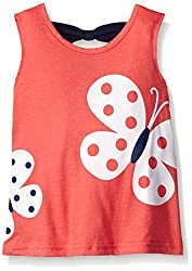 Gerber Graduates Girls Sleeveless Top with Bow Back, Pink Butterflies, 3T