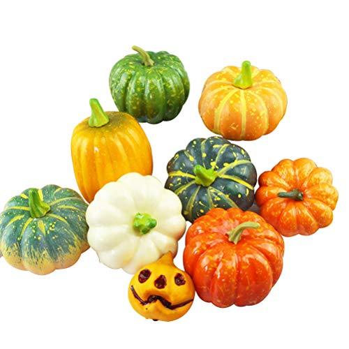 BESPORTBLE Künstliche Halloween Kürbisse Simulation Pflanze Obst Halloween Party Supplies Requisiten Dekoration, 9 STÜCKE
