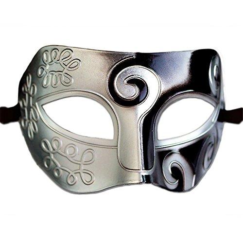 ner halbes Gesicht Maske Cos Ball Halloween Party Maske Antikstil K2 Masquerade ()