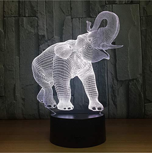 Tier Elefant 7 Farbwechsel 3D Led Lampe Gebühr 3D Nachtlicht Schlafzimmer Bücherregal Nachtlicht Wohnkultur Kreative Geschenk -
