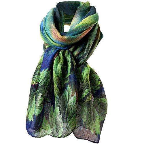 HUHU833 Écharpes châle foulards Femmes mode impression longue écharpe châle Automne H