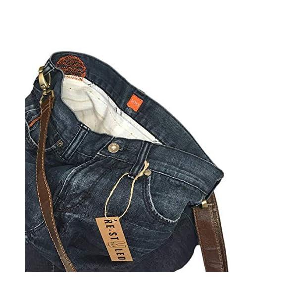 Handmade Denim Bag, Handmade bag, Casual Jeans Bag, Denim Hobo Bag, Messanger Jeans Bag, Upcycled Jeans, Recycled Denim Bag, Shoulder Bag - handmade-bags
