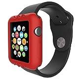 Gaddrt Ultra-Slim gel de silice mignon protéger housse pour Apple Watch série 1 42 mm (Rouge)