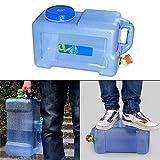Lembeauty 12L food grade Portable contenitore dell' acqua con rubinetto auto acqua secchiello per auto per esterni/campeggio/picnic viaggio