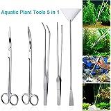 LONDAFISH Ensemble d'outils pour Plantes en Acier Inoxydable pour Aquarium Aquarium Aquascaping Tweezers Kit de Ciseaux