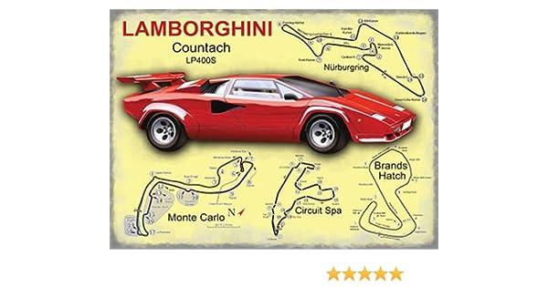 Lamborghini The Original Supercar Classic Vintage Mini Metal Sign 8