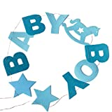 wdoit Geburtstag Party Farbe Flagge Baby Bay Baby Mädchen Buchstabe Pull Flagge Baby-Raum Dekoration Banner Vlies 150cm, Blue boy, 150 cm