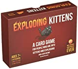 Exploding Kittens is a card game for people who are into kittens and explosions and laser beams and sometimes goats. In this highly-strategic, kitty-powered version of Russian Roulette, players draw cards until someone draws an Exploding Kitten, at w...