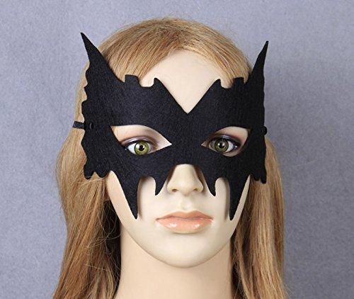 SOUTHSKY® Batgirl Kostüm Maske Black Eye Mask Half Face Maske für Halloween Kostüm Cosplay Party (Batman Mask Black Cosplay)
