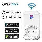 Intelligente WiFi Steckdose funktioniert mit Amazon Alexa (Echo und Echo Dot) und Google home Smartphone App Steuerung für IOS und Android für Haus und Büro Fernbedienungsschalter