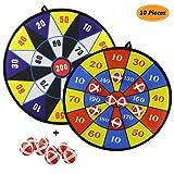 Gifort Zwei Tuchgewebe Klettverschluss Dartscheibe Dart Ballspiel mit 8 Kugeln, groß 36cm (14.2Inches) Durchmesser, Sicheres Spiel Ideal Spielzeug Geschenk für Kinder