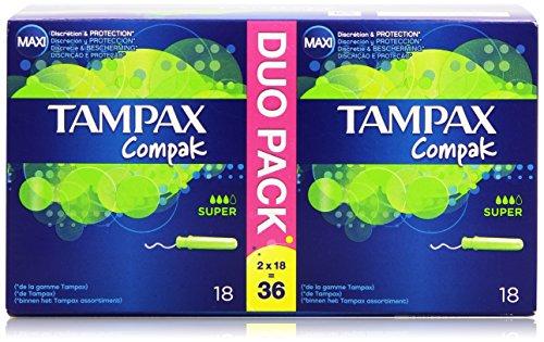 Tampax Compak Tampon con Aplicador Retráctil Compacto