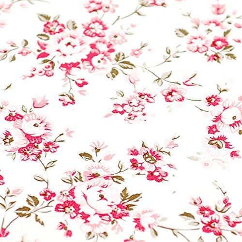 Zhzhco Selbstklebende Pvc-Tapeten Blumen Rot Auf Weißem Hintergrund Mit Einem Hintergrund Von Wasserdichten Schlafzimmer Wohnzimmer Wand Aufkleber Aufkleber 45Cm*10M