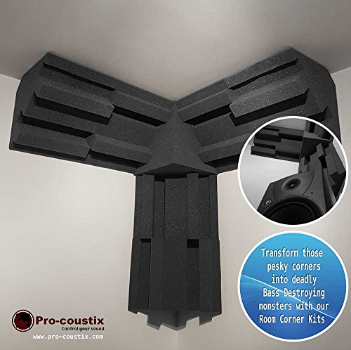 Pro-coustix Ultraflex esquina Kit 6x 300bass trampas + 1x esquina cubo