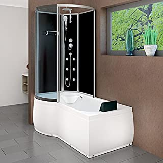 AcquaVapore DTP8050-A300R Wanne Duschtempel Badewanne Dusche Duschkabine 98x170, EasyClean Versiegelung der Scheiben:Nein! +0.-EUR
