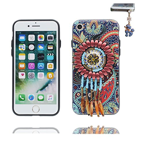"iPhone 6 6s Hülle Cover, 3D Bead Zubehörteil, TPU Flexible Uniquedesigned Nationaler Stil Slim Bling iPhone 6 Handyhülle 4.7"", iPhone 6S case 4.7"" Kratzer beständig & Staubstecker # 5"