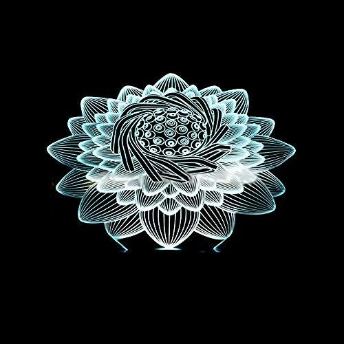 Nouveau Lotus 3D Lampe Deco Lamp...