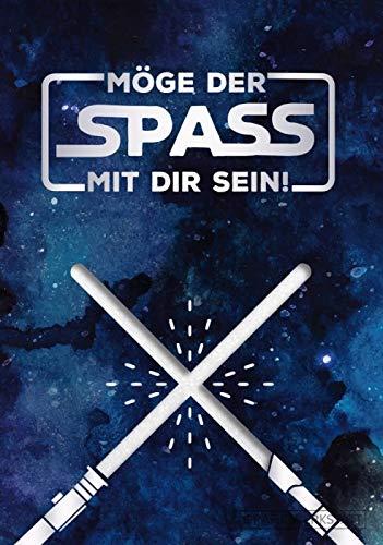"""GRAFIK WERKSTATT Das Original Glückwunschkarte Geburtstag, Musikkarte mit Sound, Song\""""Star Wars Theme\"""""""