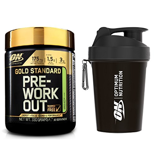 Optimum Nutrition Gold Standard Pre-Workout Supplement, Apple, 330 g with Shaker