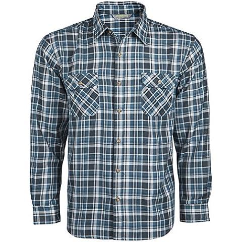 TUNDRA-Camicia da uomo a maniche lunghe, leggero, da lavoro, Casual