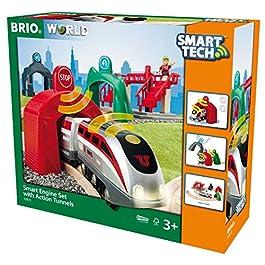 Brio- Smart Tech Set Locomotiva Intelligente con Tunnel, 33873