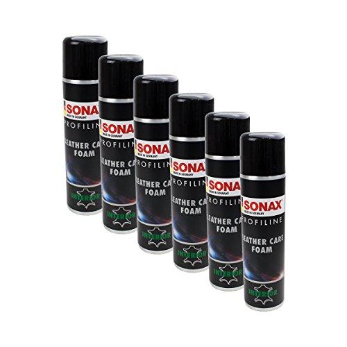 6x Sonax 02893000ProfiLine cuir Mousse de soin sans silicone 400ml