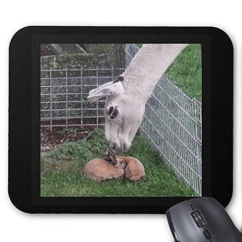 Adorable Lapin Tapis de souris série llove Lama et lapin