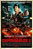 OWNG Expendables 2 Comic Movie Silk Printing Wall Poster