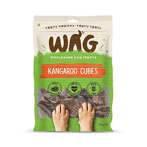 Get Wag Känguruwürfel, frei von Körnern, hypoallergen, natürlich, australisch, hergestellt zum Kauen, perfekt für Welpen und Senioren, 7oz. / 200g -
