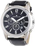 TOM TAILOR Herren-Armbanduhr XL Analog Quarz Leder 5413501