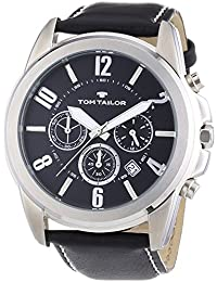 TOM TAILOR Herren-Armbanduhr XL Analog Quarz Leder 5413501