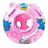 Swonuk Baby zwemring met zwemzitje van pvc, voor peuters, 6 maanden tot 3 jaar, roze