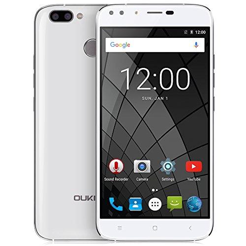 Oukitel U22 - 3G Smartphone ohne Vertrag (5.5 Zoll, Android 7.0, 4 Cameras, MTK6580A 1.3GHZ Quad-core, 2GB ROM, 16GB RAM, 1280 x 720 pixel, dual Sim, Fingerprint) (weiß)