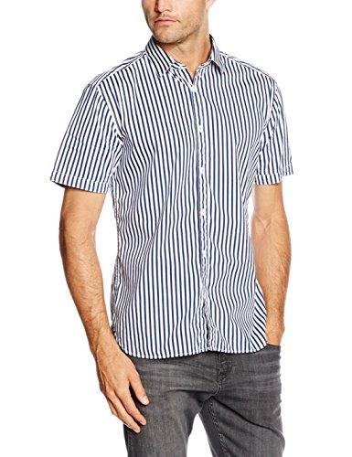 ESPRIT -  Camicia Casual  - elastico in vita - Maniche corte  - Uomo Blu Blu (Blu scuro e 405) X-Large