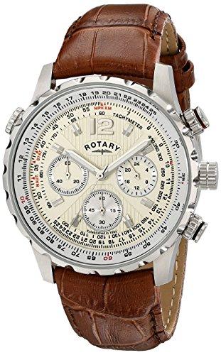 Rotary Herren-Armbanduhr XL Timepieces Chronograph Quarz Leder GS00120/31