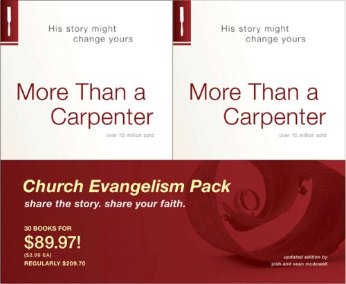 More Than a Carpenter 30 Pack, Church Evangelism Pack 30-Pack -